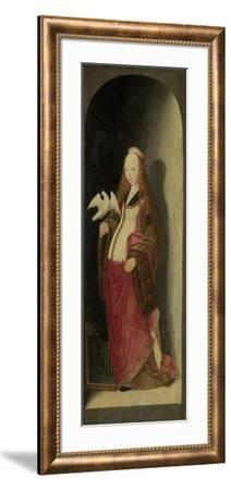 Saint Cecilia, Right Wing of a Triptych- Master of the Brunswick Diptych-Framed Art Print
