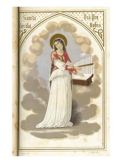 Saint Cecilia Virgin, Martyr and Musician--Giclee Print