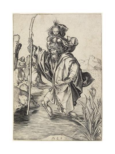 Saint Christopher, C. 1475-1480-Martin Schongauer-Giclee Print