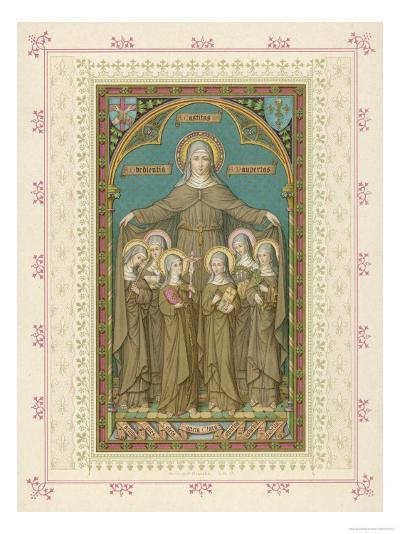 Saint Clare and Sisters--Giclee Print
