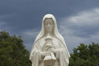 Saint Clare Statue, St. Francis of Assisi Churchyard, Ranchos De Taos, New Mexico--Photographic Print