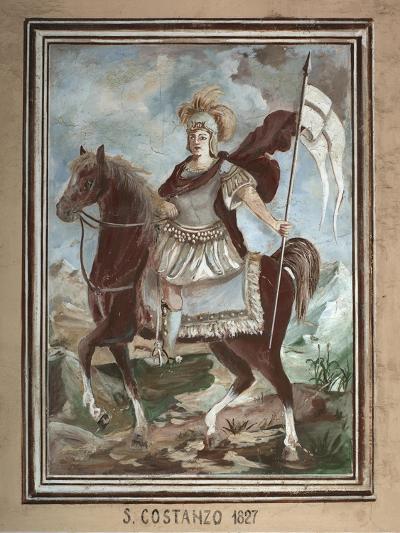 Saint Constantius (1818), Fresco, Sampeyre, Varaita Valley, Piedmont, Italy--Giclee Print
