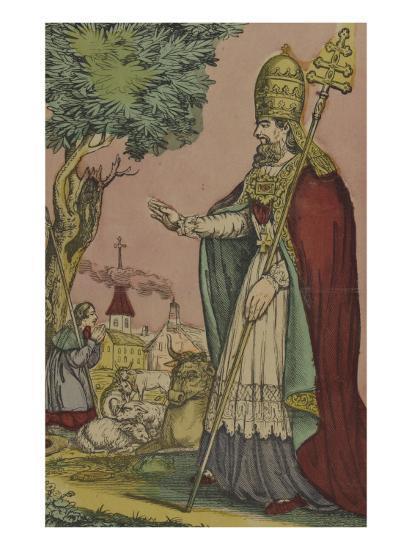 Saint Cornely, protecteur des bestiaux--Giclee Print