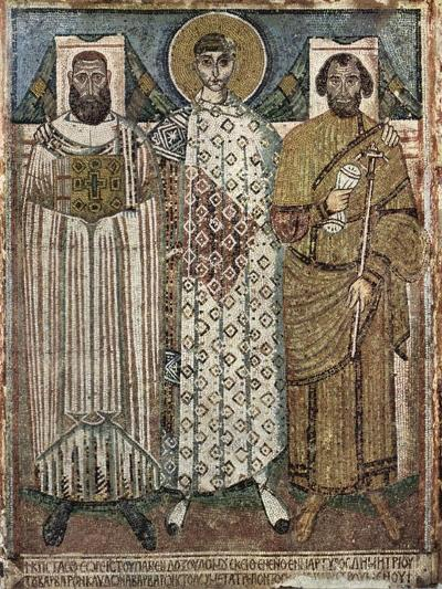 Saint Demetrius of Thessaloniki with the Donors, 6th-7th Century--Giclee Print