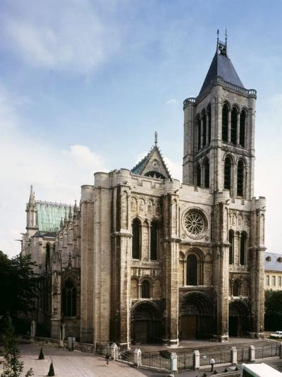 Saint-Denis Cathedral, Gothic, founded 1137 by Abbot Suger--Photographic Print