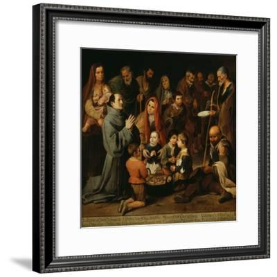 Saint Diego of Alcala Distributing Bread to the Poor-Bartolome Esteban Murillo-Framed Giclee Print