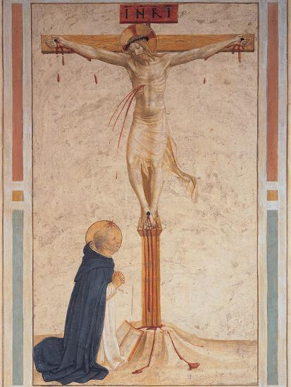 Saint Dominic Praying by the Crucifixion--Giclee Print