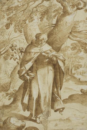Saint Dominic Reading, C.1575-Bartholomaeus Spranger-Giclee Print