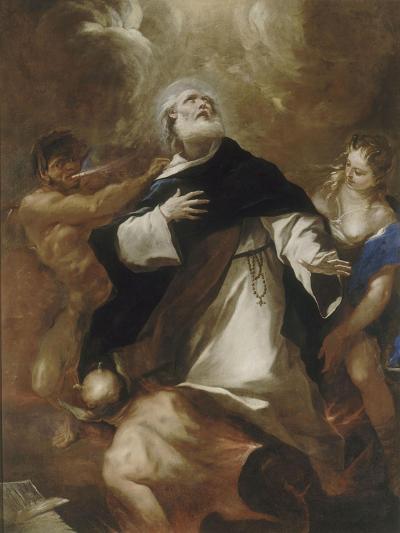 Saint Dominique s'élevant au-dessus des passions humaines-Luca Giordano-Giclee Print
