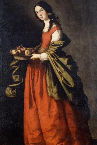 Saint Dorothea-Francisco de Zurbaran-Giclee Print