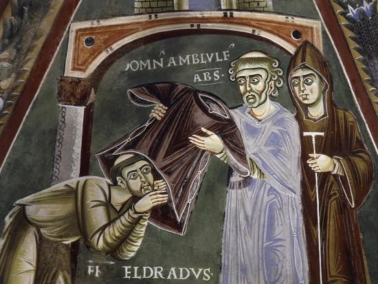 Saint Eldrad Returns from Santiago De Compostela and Receives Religious Habit--Giclee Print