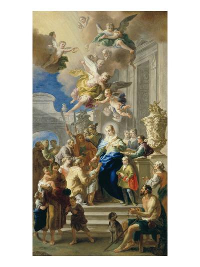 Saint Elizabeth of Hungary Giving Out Alms, 1736/37-Daniel Gran-Giclee Print