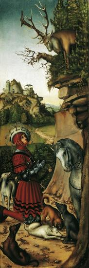 Saint Eustace-Lucas Cranach the Elder-Giclee Print
