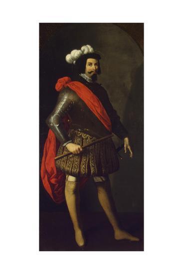 Saint Ferdinand III of Castile, Ca 1630-1634-Francisco de Zurbar?n-Giclee Print