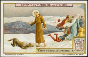 Saint Francis of Assisi Befriends the Wolf of Gubbio