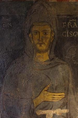 Saint Francis of Assisi (Detail of His Oldest Portrai), 13th Century