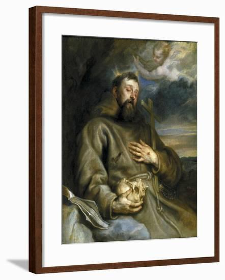 Saint Francis of Assisi in Ecstasy-Sir Anthony Van Dyck-Framed Giclee Print