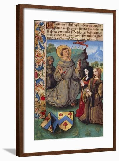 Saint Francis of Assisi, Miniature from the Book of Hours--Framed Giclee Print