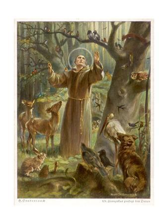 Saint Francis Of Assisi Preaching To The Animals Giclee Print By