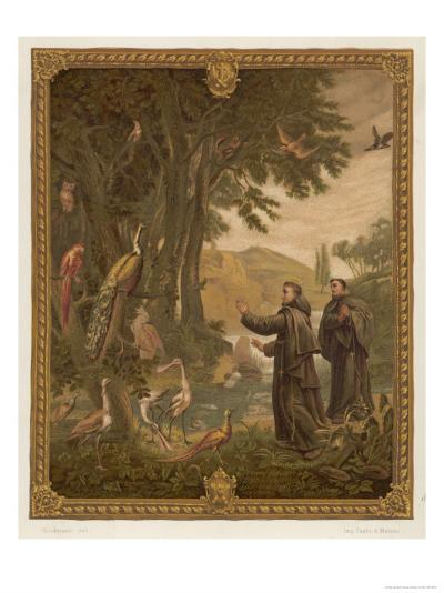 Saint Francis of Assisi, Preaching to the Birds--Giclee Print