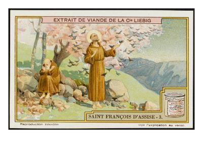 Saint Francis of Assisi - Preaching to the Birds--Giclee Print