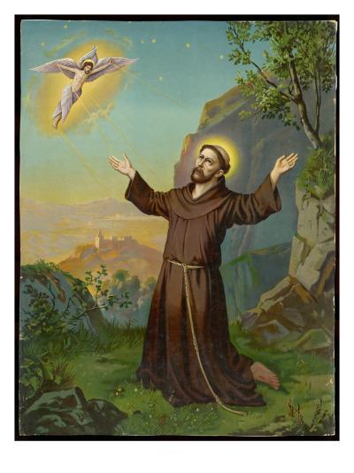 Saint Francis of Assisi - Receiving the Stigmata--Giclee Print