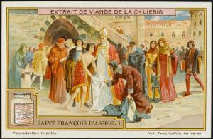 Saint Francis of Assisi Takes Off His Rich Clothing and Gives it to the Poor