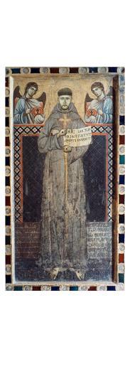 Saint Francis Of Assisi- Master Of Saint Francis-Giclee Print
