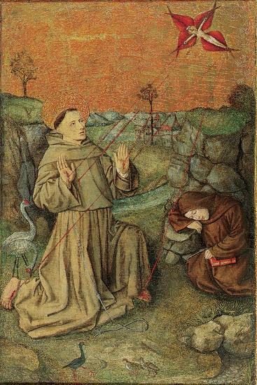 Saint Francis Receiving the Stigmata, Late 15th Century (Oil on Gold Ground Panel)--Giclee Print