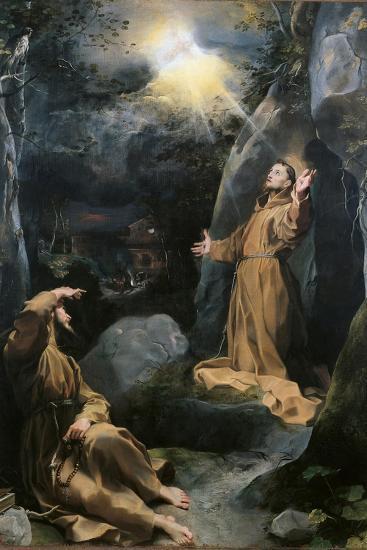 Saint Francis Receiving the Stigmata-Barocci-Art Print