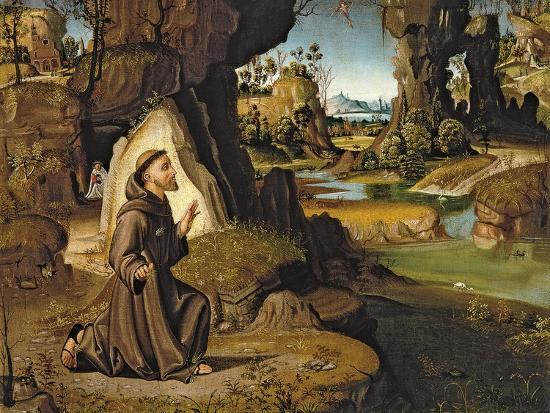 Saint Francis Receiving the Stigmata-Antonio Pirri-Giclee Print