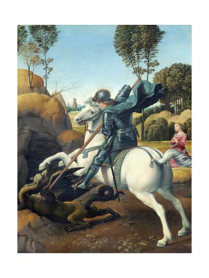 Saint George and the Dragon by Raphael--Giclee Print