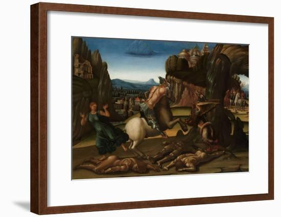 Saint George and the Dragon, c.1500-Luca Signorelli-Framed Giclee Print