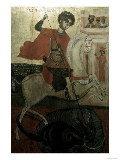 Saint George and the Dragon--Giclee Print
