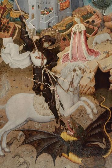 Saint George Killing the Dragon, 1434-1435-Bernat Martorell the Elder-Giclee Print