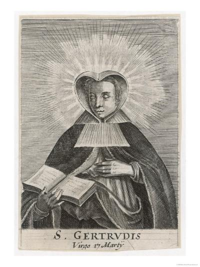 Saint Gertrude de Nivelles Flemish Nun--Giclee Print