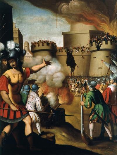 Saint Ignatius Loyola, 1491-1556 Founder of Jesuit Order, at the Siege of Pampeluna--Giclee Print