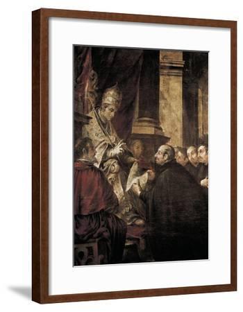 Saint Ignatius of Loyola Receiving Papal Bull from Pope Paul III-Juan de Valdes Leal-Framed Art Print