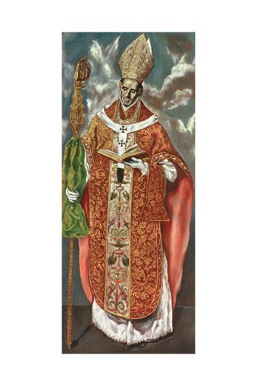 Saint Ildefonsus, a Copy of the Original in the Escorial-Domenico El Greco-Giclee Print