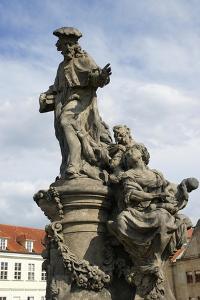 Saint Ivo of Kermartin, T.O.S.F. (1253-1303). Baroque Sculpture by Matyas Bernard Braun on Behalf…