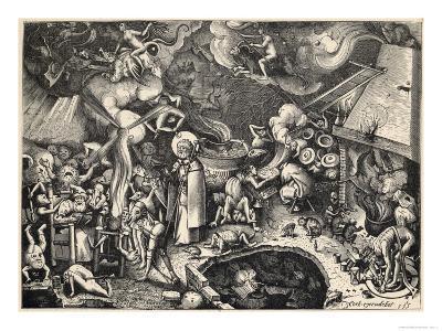 Saint James (The Elder) Resists the Diabolical Delights of the Sabbat- Cock-Giclee Print