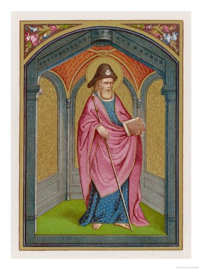 Saint James the Great the Patron of Pilgrims Supposed to be Buried at Compostella Spain--Giclee Print