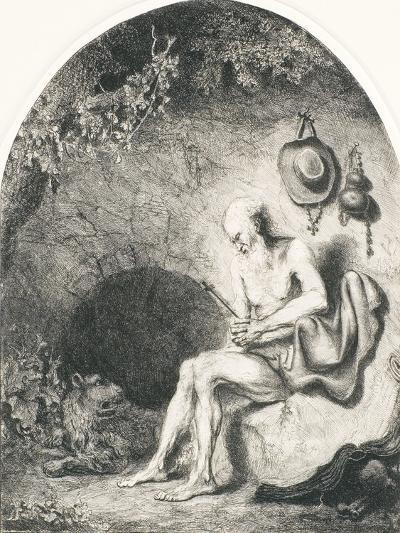 Saint Jerome, 1644-Ferdinand Bol-Giclee Print