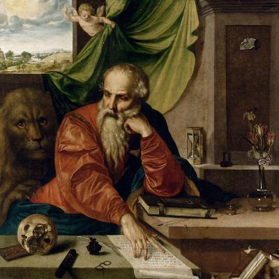 Saint Jérôme en méditation-Georg Pencz-Giclee Print