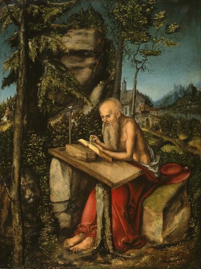 Saint Jerome in a Rocky Landscape-Lucas Cranach the Elder-Giclee Print