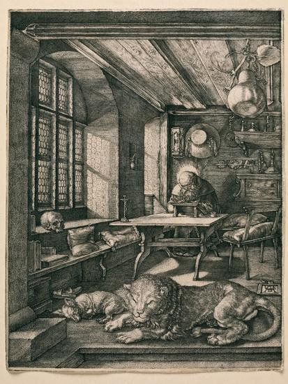 Saint Jerome in His Cell-Albrecht D?rer-Giclee Print