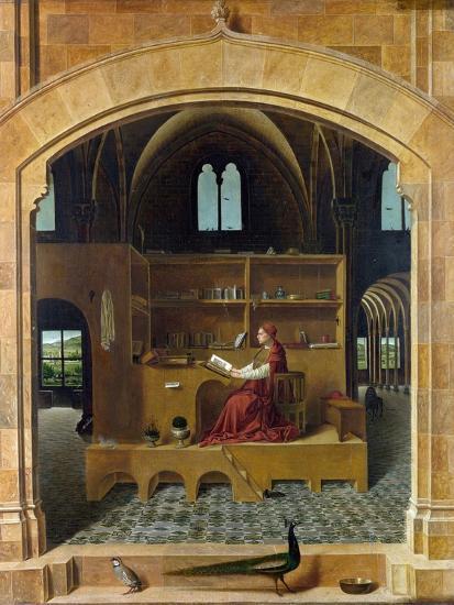 Saint Jerome in His Study-Antonello da Messina-Giclee Print