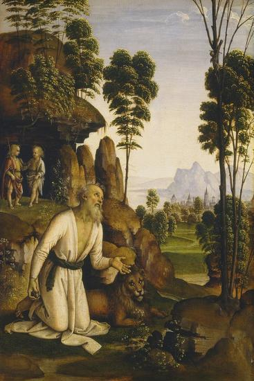 Saint Jerome in the Wilderness, C.1490-1500-Pietro Perugino-Giclee Print