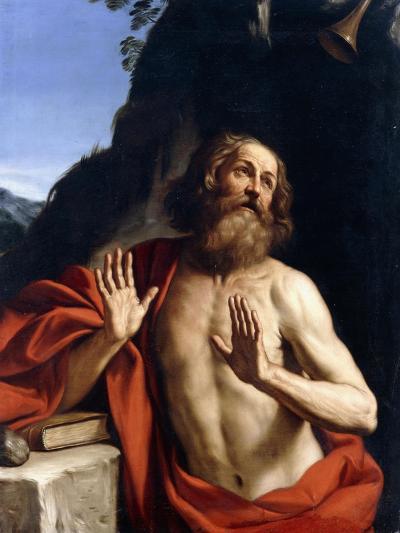 Saint Jerome in the Wilderness-Giovanni Francesco Barbieri-Giclee Print