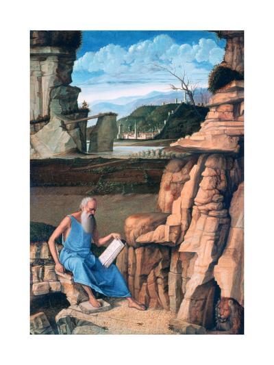Saint Jerome Reading in a Landscape, C1480-1485-Giovanni Bellini-Giclee Print